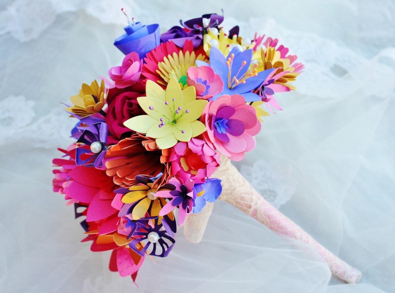 Paper Flowers Wedding Bouquet Wonderland Wildflower Bouquet