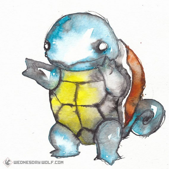 Squirtle - Matte Print