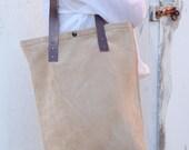 Billet Bag - Suede light brown tote bag //Ready to ship//