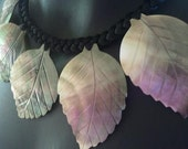 Mother of Pearl leaf shaped shell necklace