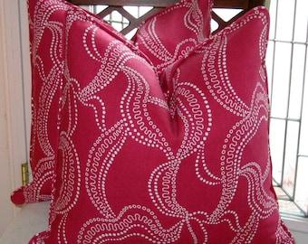 Duralee Eileen Kathryn Boyd Fuchsia Pillow Cover