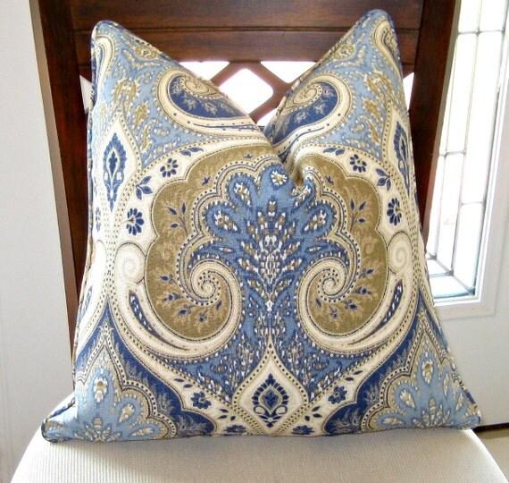 Kravet Latika in Delta Pillow Cover