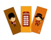 London Magnet Set of 3 Character Magnets