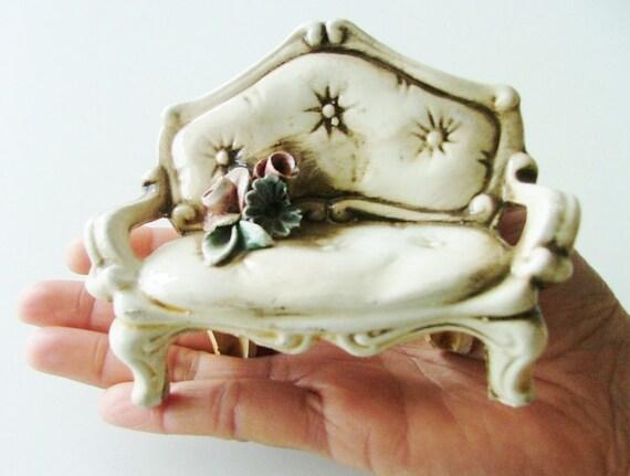 Vintage Ceramic Chair - Italian ornament handmade