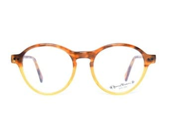Brown Tortoise Transparent Vintage glasses - James Dean Demi-Habana - duo-tone - NOS Eyeglasses