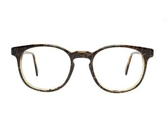 Cobra Brown Vintage Eyeglasses - Rancho - 1980's glasses - NOS