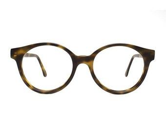Jade Brown Tortoise Matte Vintage Eyeglasses - Round Glasses - Sting