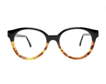 Jade Green Eyeglass Frames : Jade Green Round Vintage Eyeglasses : transparent 80s