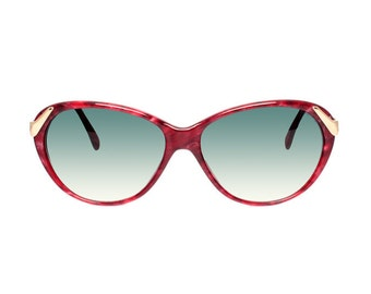 red vintage cateye sunglasses - raspberry red sunglasses cat eye model - tortoise pattern sun glasses for women - casanova