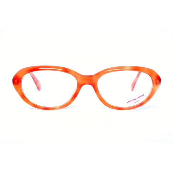 orange antonio miro vintage eyeglasses naranja by