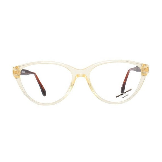 RESERVED for DOMINEKE - Champagne Transparent Cat Eye Antonio Miro Vintage Eyeglasses