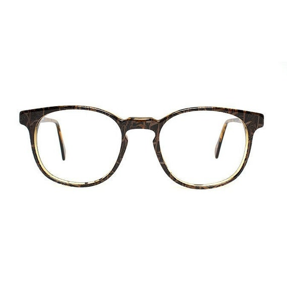 brown vintage eyeglasses - square tortoise glasses for men and women - original 1980s - rancho cobra