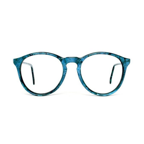Glasses With Blue Frames : Turquoise Blue Round Vintage Eyeglasses by MODvintageshop ...