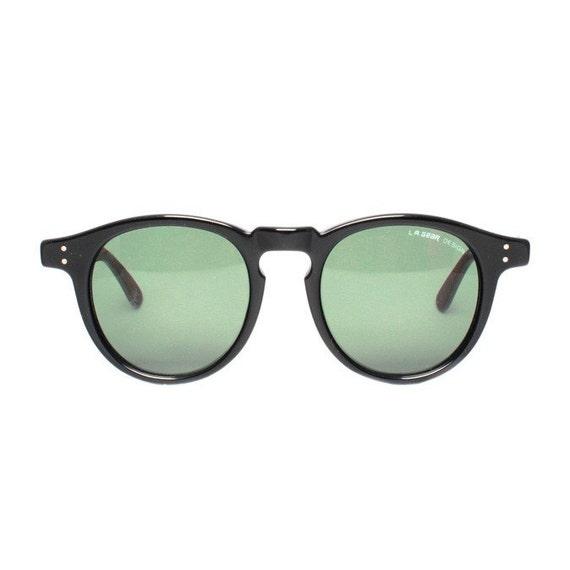 Black Tortoise Round Vintage Sunglasses - L.A. Gear Street Dancer