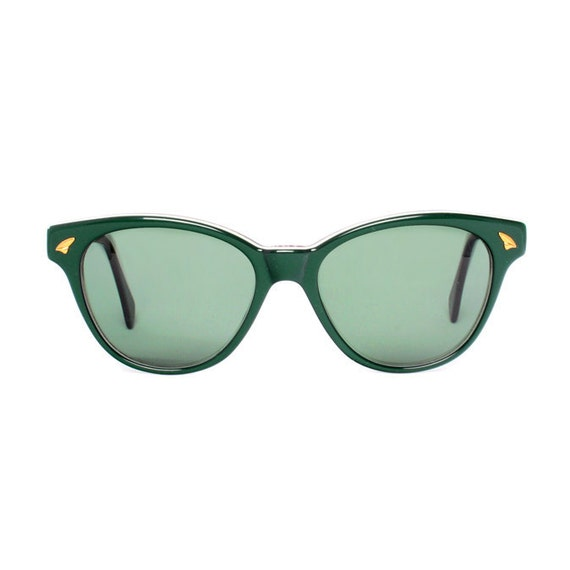 Green Wayfarer Vintage Sunglasses - Bonny verde