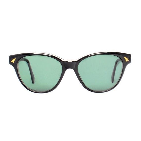 Black Wayfarer Vintage Sunglasses - Bonny