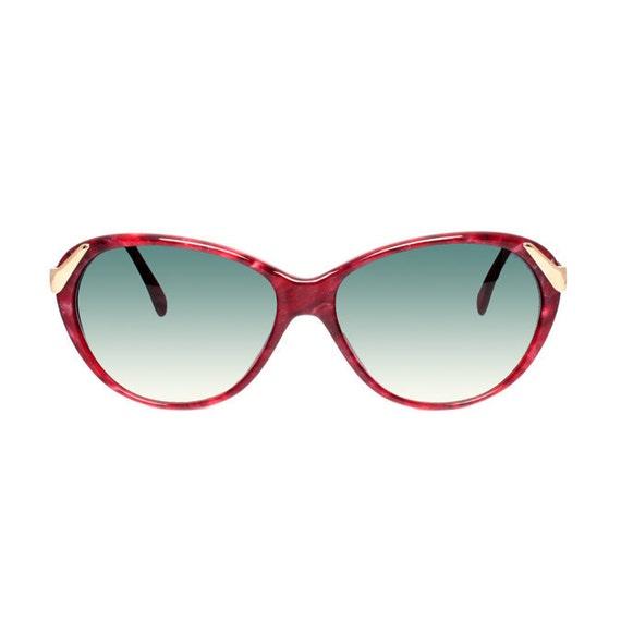 red vintage cateye sunglasses - raspberry red sunglasses cat eye model - tortoise pattern sun glasses for women - casanova