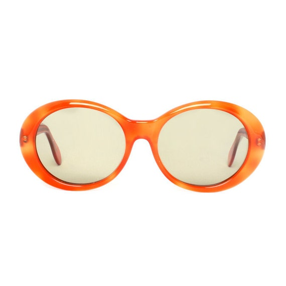 Orange Round Vintage Sunglasses - Girl Naranja - NEW from the 1980's