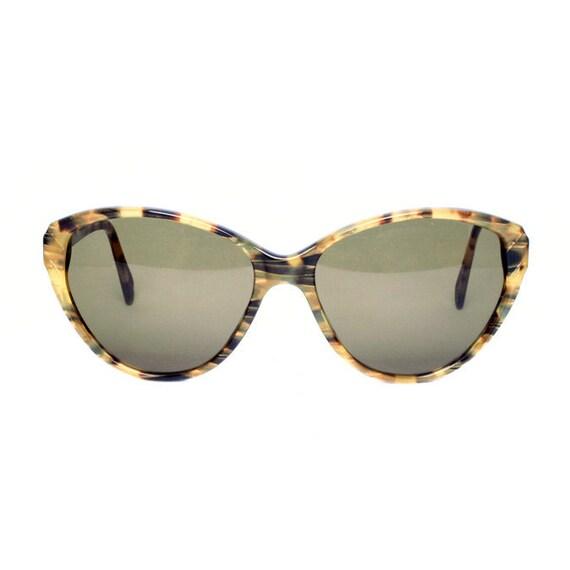 vintage cateye sunglasses - black yellow tortoise sunglasses - 50s model womens vintage sunglasses cat eye