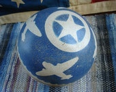 vintage play time ball patriotic stars and airplanes