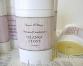 Natural Deodorant Stick, Moisturizing Odor Protection in Orange Clove Scent