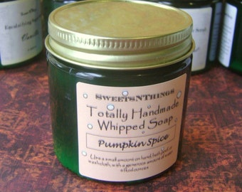 Pumpkin Spice Whipped Soap, Handmade from Scratch