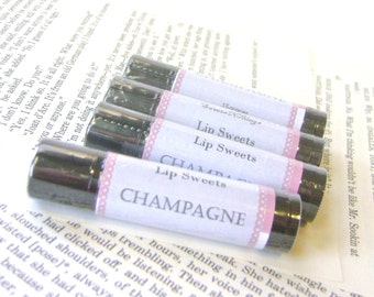 Champagne Lip Balm, Shea and Cocoa Butter Beeswax Balm