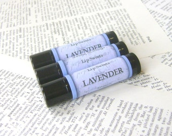 Lavender Lip Balm, All Natural Beeswax Balm with Jojoba and Shea