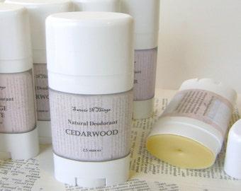 Natural Deodorant Stick, Moisturizing Odor Protection in Cedarwood Scent