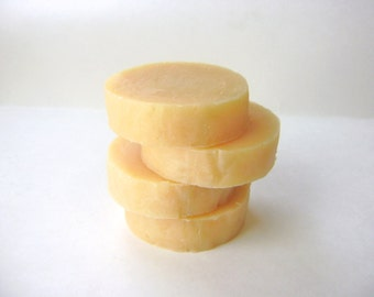 Orange Mint Shaving Soap, Handmade Shaving Soap with Tallow and Lanolin for Men