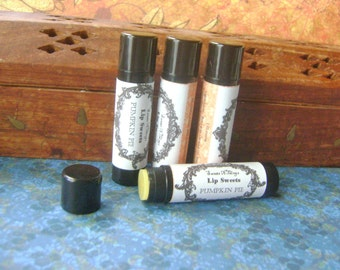Pumpkin Pie Lip Balm, Natural with Cocoa and Shea Butter
