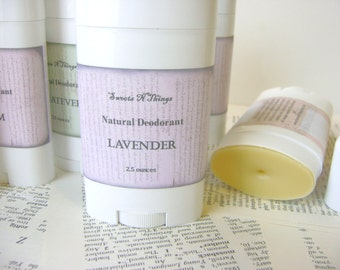 Natural Deodorant Stick, Moisturizing Odor Protection in Lavender Scent