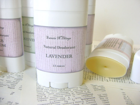 Natural Deodorant Stick, Moisturizing Odor Protection in Lavender Scent