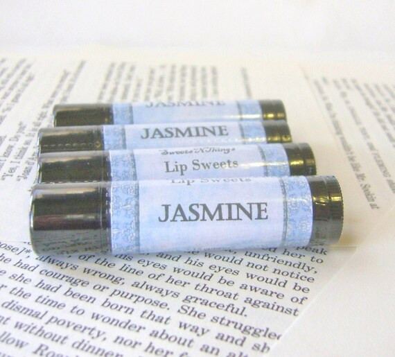 Jasmine Lip Balm, One Tube Lip Balm with Cocoa and Shea Butter