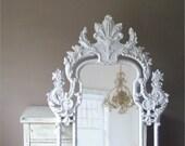 Vintage Rococo Mirror, Baroque, Shabby Chic, Huge Leaning Mirror, Large Vintage Mirror