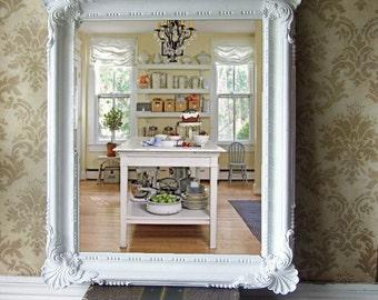 Vintage Cottage Chic Mirror, Baroque style