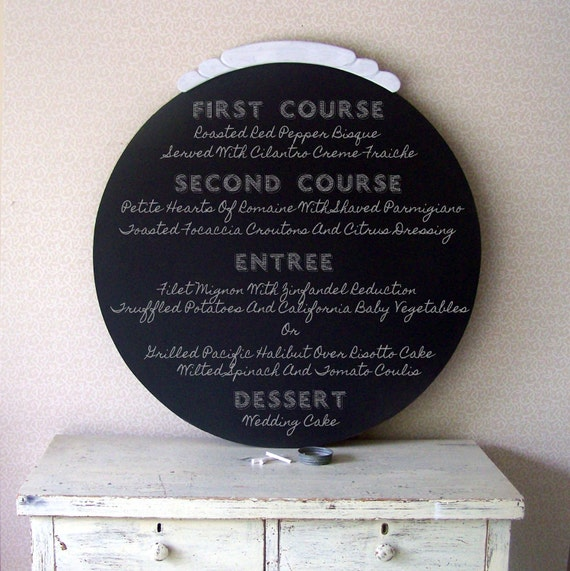 Wedding Chalkboard, Art Deco Circle Blackboard, Modern Chalkboard, Hollywood Regency