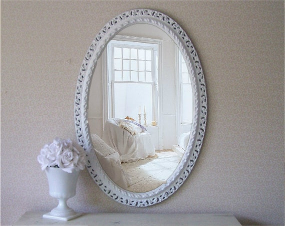 Vintage Shabby Chic Mirror, Cottage Chic, Vanity, French Country