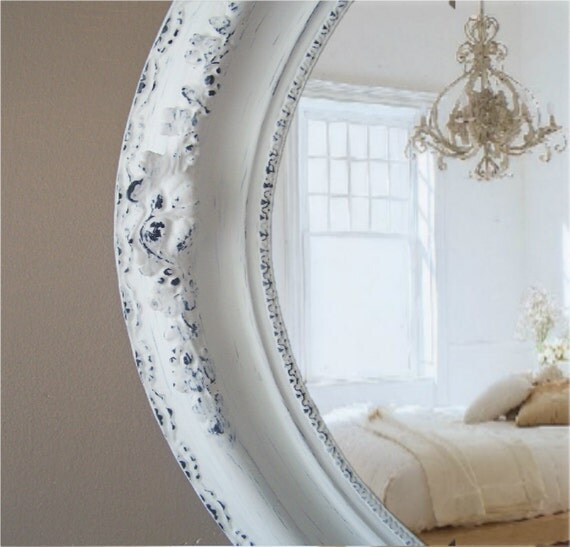 Antique Shabby Chic Mirror, Cottage Chic, Vanity, French Country, Nursery