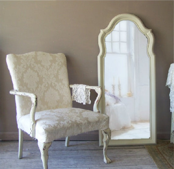 French Provencal, Curvy Mirror, Vintage Shabby Chic, Cottage Chic