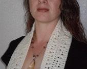 Kylie Scarf in Aran - Skinny Crochet Long - Made To Order