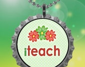Teacher Series (TS5) Bottle Cap Necklace - Buy 3 Get 1 Free