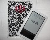 Nook Kindle eReader  Case PADDED  with Monogram