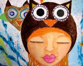 Mixed Media 8x10 Print: Love is Owl You Need