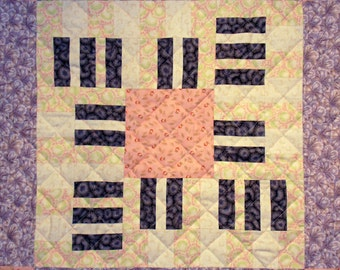 Piano Octaves Patchwork Quilt Block Pattern