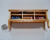 Dollhouse Miniature Sewing Supply Dresser Hutch