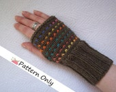 INSTANT DOWNLOAD - Mama Love Mitts Fingerless Gloves Knit Pattern