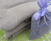 HEMP Heating Pad, Refillable, add dried lavender at anytime, machine wash dry, 6x27