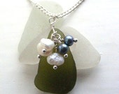 Scottish Sea Glass Cluster Necklace