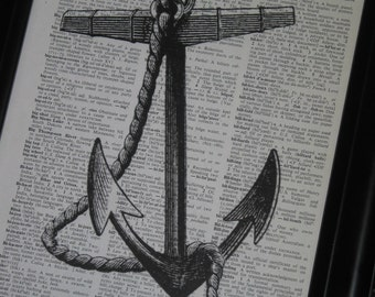 Anchor Dictionary Art Dictionary Book Page Print 8 x 10 Vintage Dictionary